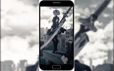 YoRHa No.2 Type B NieR: Automata - Fond d'Écran en QHD pour Mobile