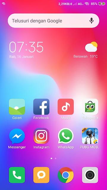 Tampilan Kecepatan Internet di Xiaomi Redmi 4X