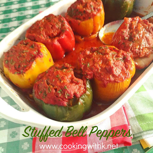 Cooking with K: Stuffed Bell Peppers + a Low Carb Option {Granny's Recipe}
