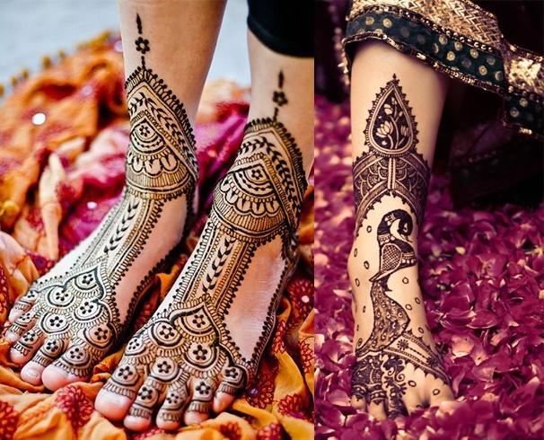 Bridal Feet Mehndi Designs