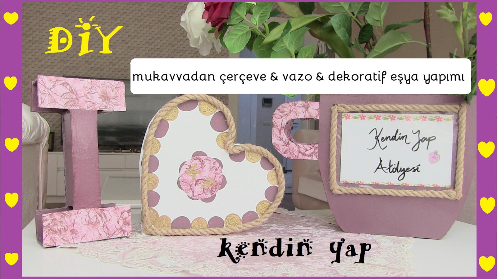 kartondan dekoratif eşya yapımı