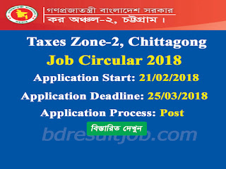 Taxes Zone-2, Chittagong Recruitment Circular 2018