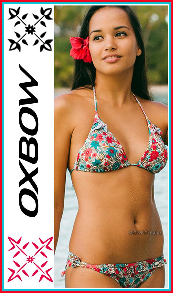 Bikini triangle OXBOW à motif petites fleurs