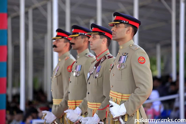 major rank in the Pakistan army