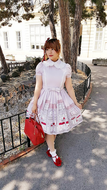 innocent world dress red shoes floral kawaii lolita fashion jfashion japanese fashion auris lothol