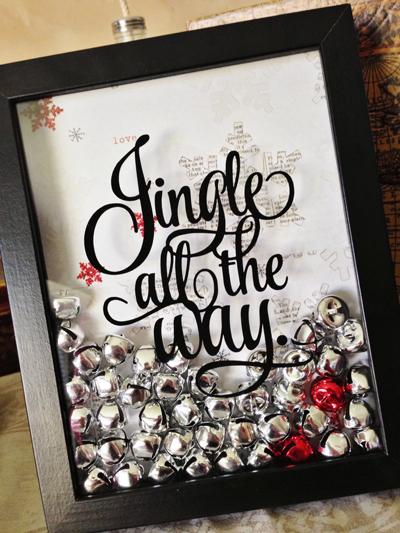 DIY Navidad: cuadro cascabeles bolas de Navidad