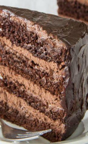Supreme Chocolate Cake wíth Chocolate Mousse Fíllíng
