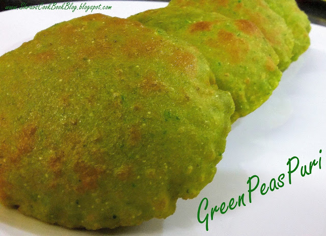 matar puri - green peas puri recipe