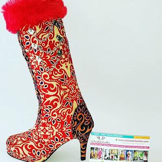 sepatu-fashion-batik-modeling