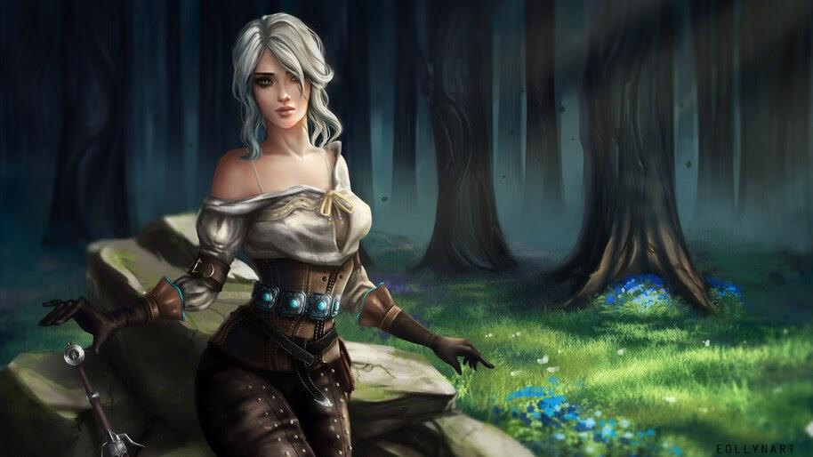 Ciri, The Witcher 3, 4K, #6.491