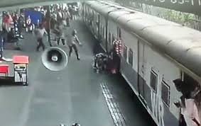 In India, the military pulled the girl out from under the moving train