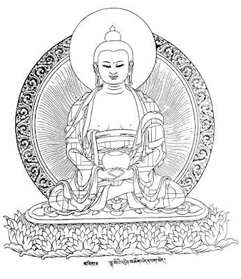 Bouddha Sakyamouni - dessin