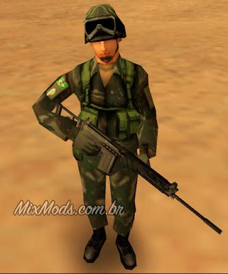 gta sa mod arma brasileira fn fal exército brasileiro