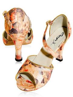 sandálias de dança de salão estampada sapatos de dança
