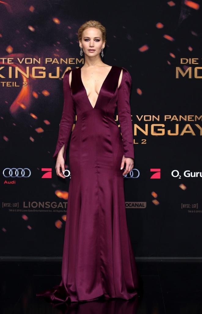 Jennifer Lawrence in Dior at World Premiere of Hunger Games Mockingjay Part 2
