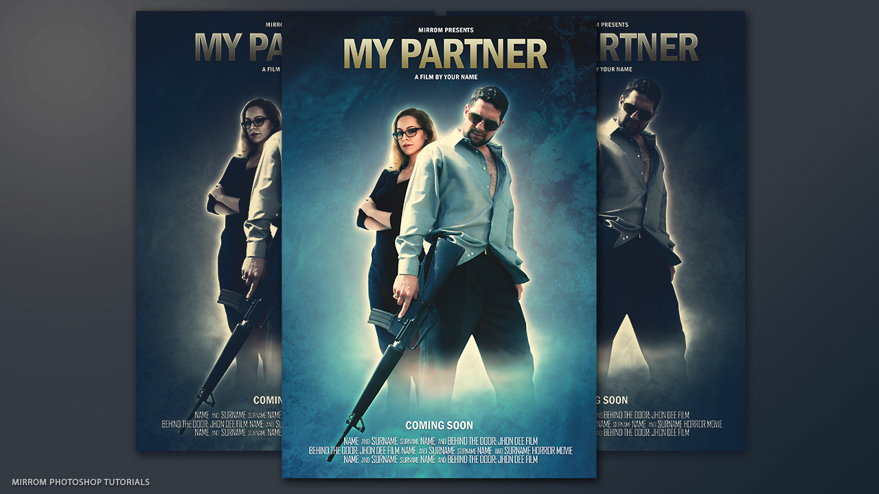 Make a my partner movie poster in photoshop baditri Choice Image