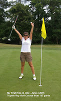 Stacy Solomon hole in one golf