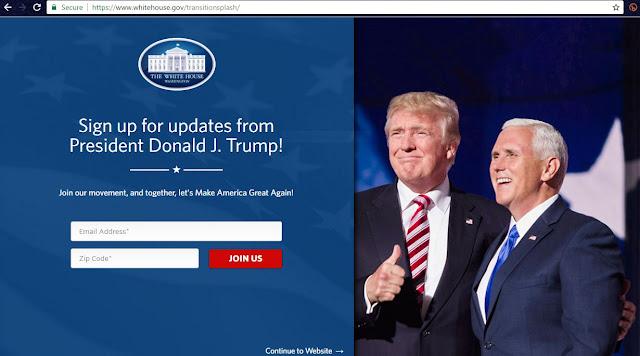 Donald Trump Inauguration Day WhiteHouse.gov