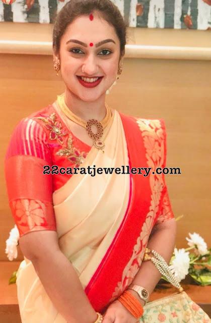 Preeta Vijaykumar Mesh Necklace