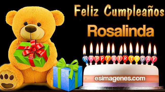 Feliz Cumpleaños Rosalinda