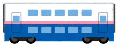 新幹線E4系電車のイラスト(ピンク)中間車両