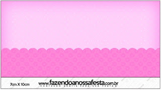 Etiquetas de Corazones Rosa para imprimir gratis