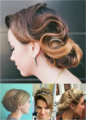 peinados recogidos con tiara