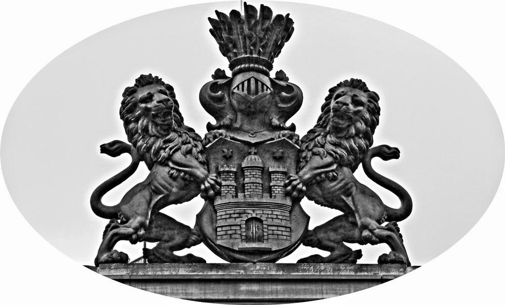 Großes Hamburger Staatswappen, Hamburg Wappen schwarz weiss
