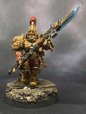 Custodian Guard with Halberd Front