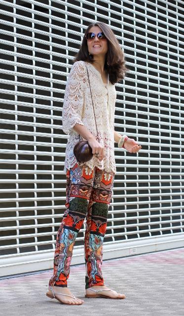 Pantalón de seda