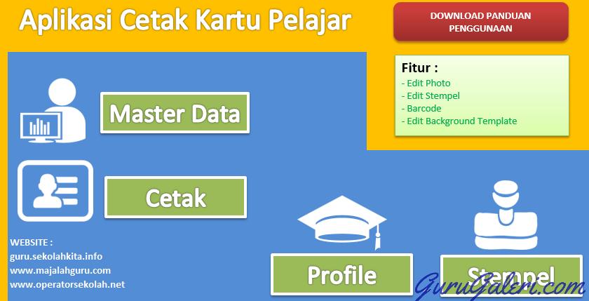 Aplikasi Cetak Kartu Pelajar Siswa Dilengkapi Barcode Gratis Informasi Dan Administrasi Guru