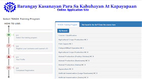 step 2. choose the course available for scholarship in tesda