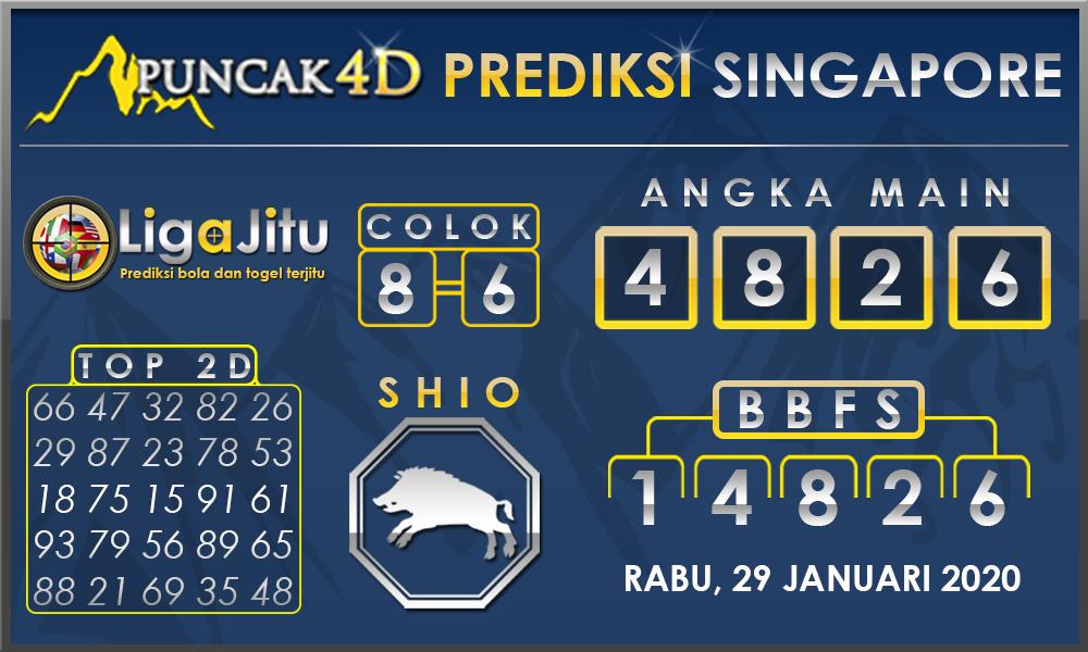 PREDIKSI TOGEL SINGAPORE PUNCAK4D 29 JANUARI 2020