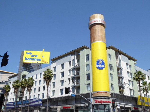 Chiquita We are bananas billboards Hollywood