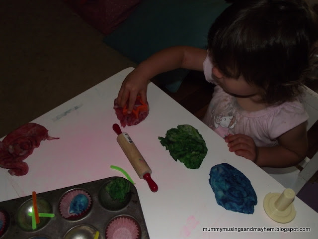Follow these easy directions to make your own marbled playdough for sensory play. Children will love making the colours appear the harder they play!