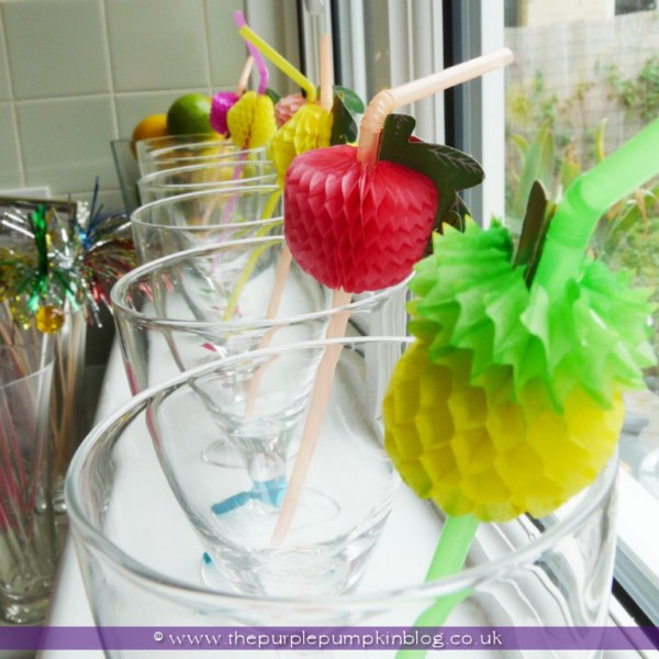 Fruity Cocktail Bar for a Hen Party/Bachelorette at The Purple Pumpkin Blog