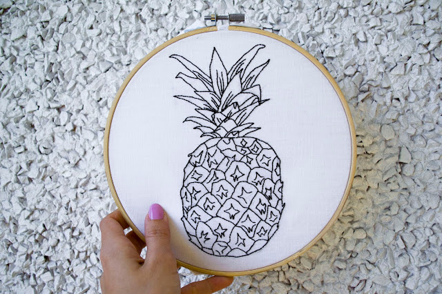 pineapple embroidery