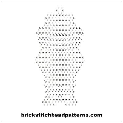 Free Thanksgiving brick stitch seed bead pattern word chart