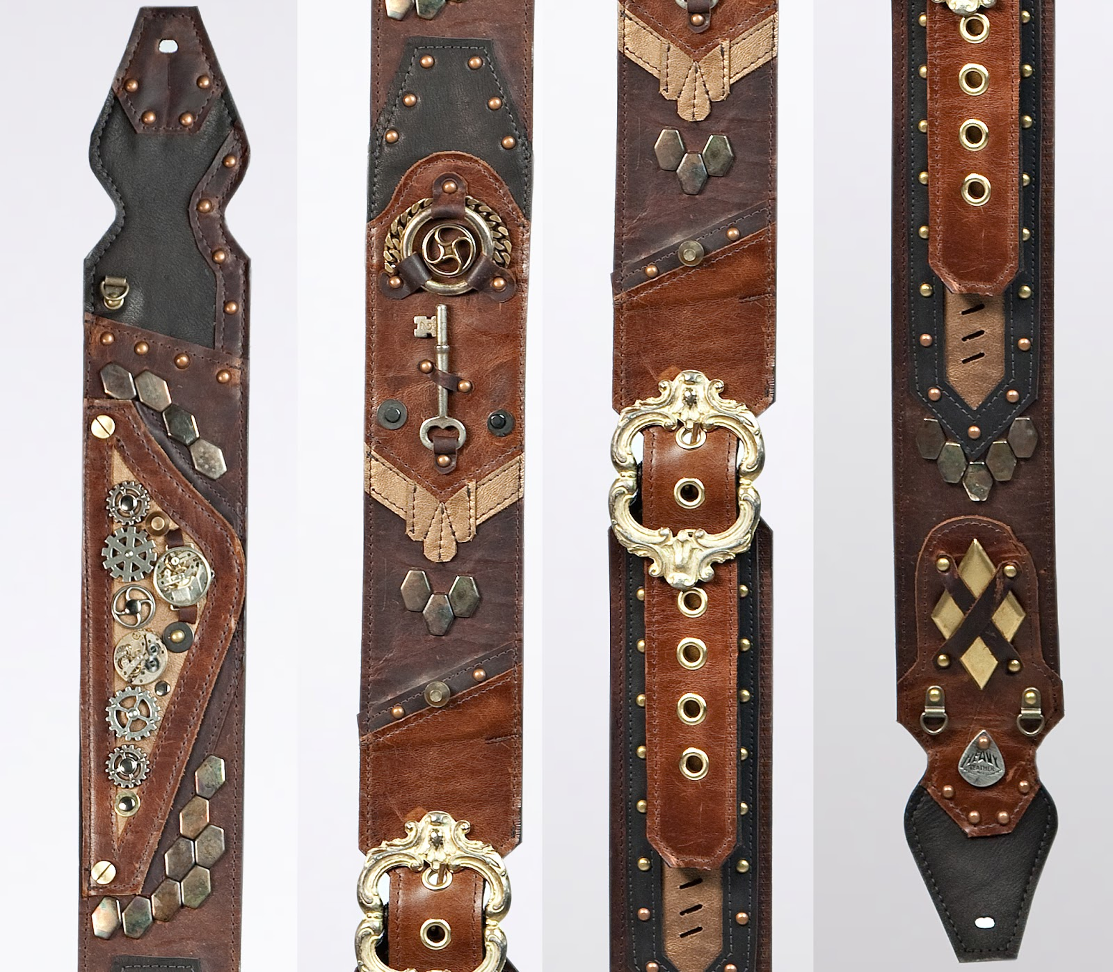 usa made guitar straps by heavy leather nyc stratocaster guitar culture stratoblogster. Black Bedroom Furniture Sets. Home Design Ideas