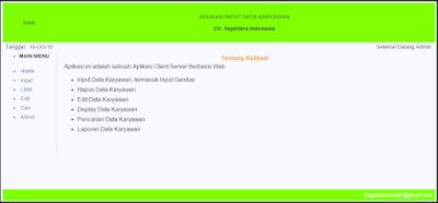 Aplikasi Sistem Informasi Administrasi Karyawan dengan PHP MySQL