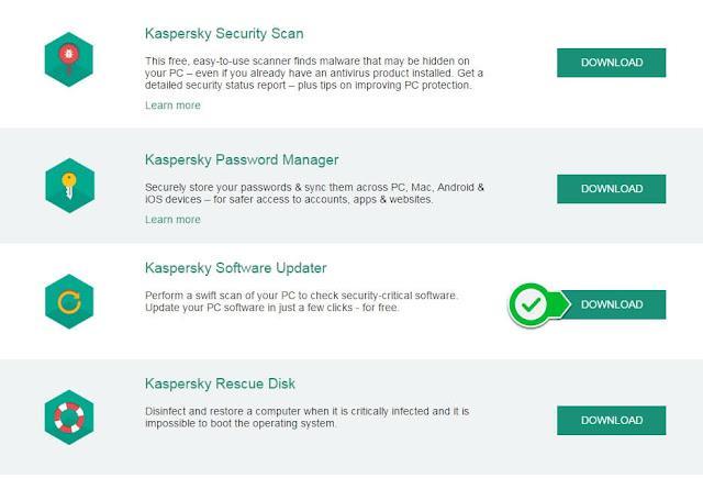 أداة لتحديث البرامج في ويندوز ، تحديث برامج ويندوز ، تحديث البرامج إلى أحدث نسخة ، أداة KASPERSKY SOFTWARE UPDATER