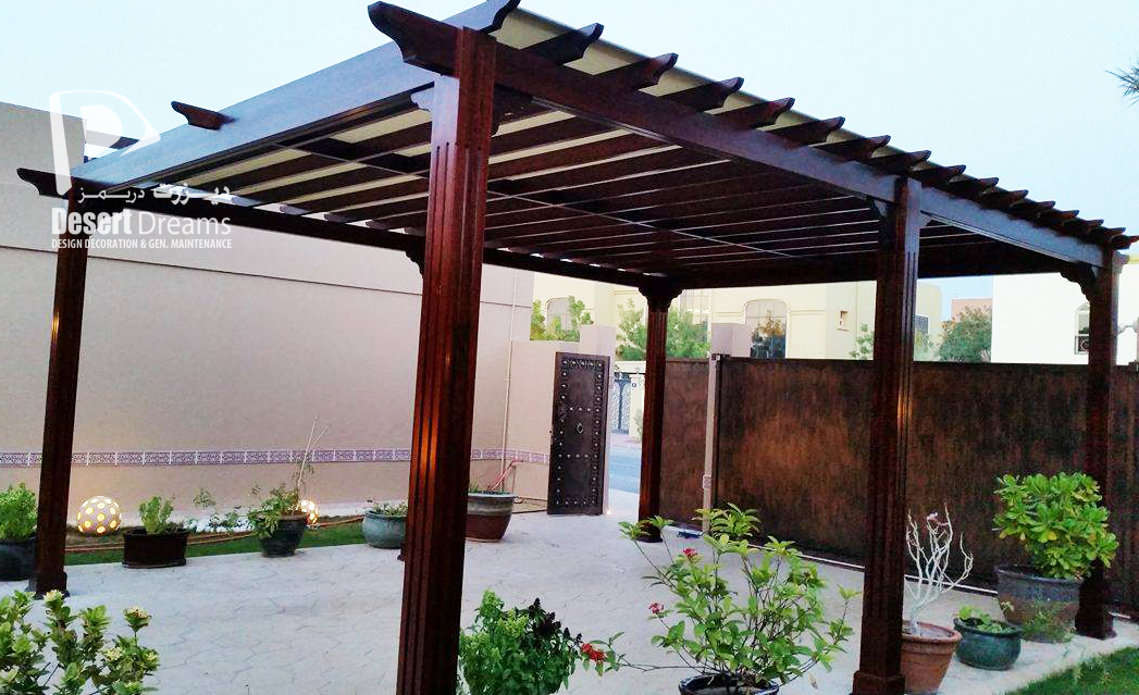 Our New Project Wooden Pergola Al Mizhar Dubai