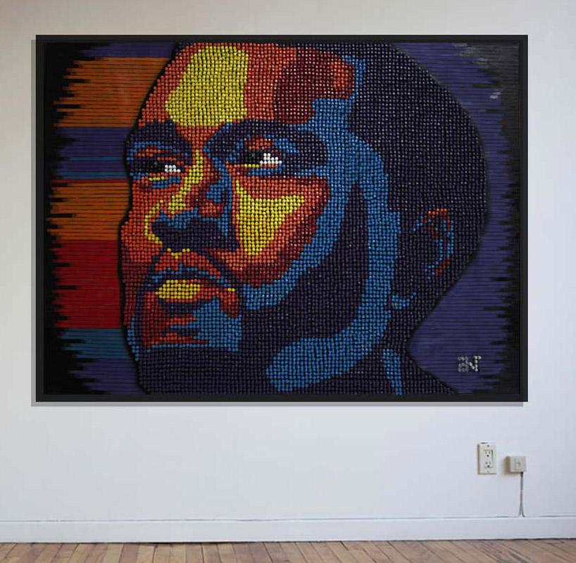 kanye west thumbtack portrait