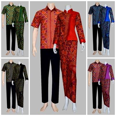 Model Baju Batik Sarimbit Modern Solo  Motif Batik