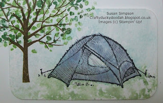 Stampin' Up! Made by Susan Simpson Independent Stampin' Up! Demonstrator, Craftyduckydoodah!, The Great Outdoors, Sheltering Tree,