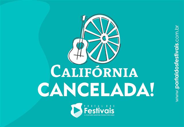 Está cancelada a 41ª Califórnia da Canção Nativa no ano de 2018