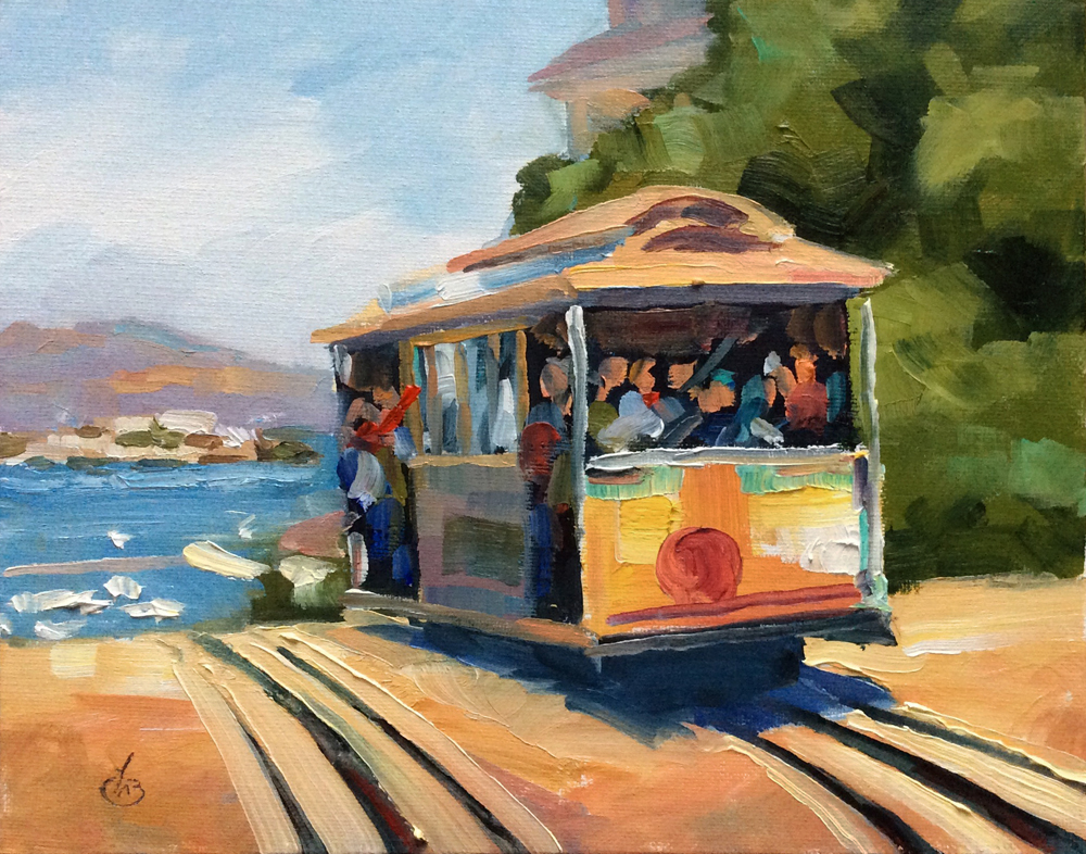 Tom Brown Fine Art San Francisco Cable Car By Tom Brown