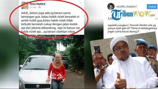 Wanita Cantik Ini Bikin Sayembara, Relakan Mobil Bila Habib Rizieq Memang Terbukti Bersalah - BeritaIslam24 = OpiniBangsa