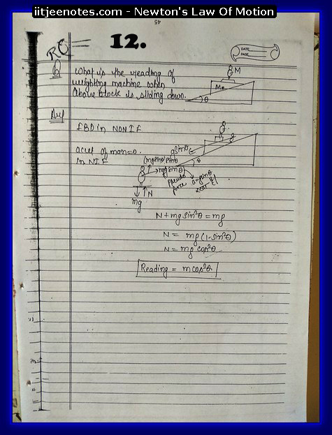 Laws Of Motion Notes 2