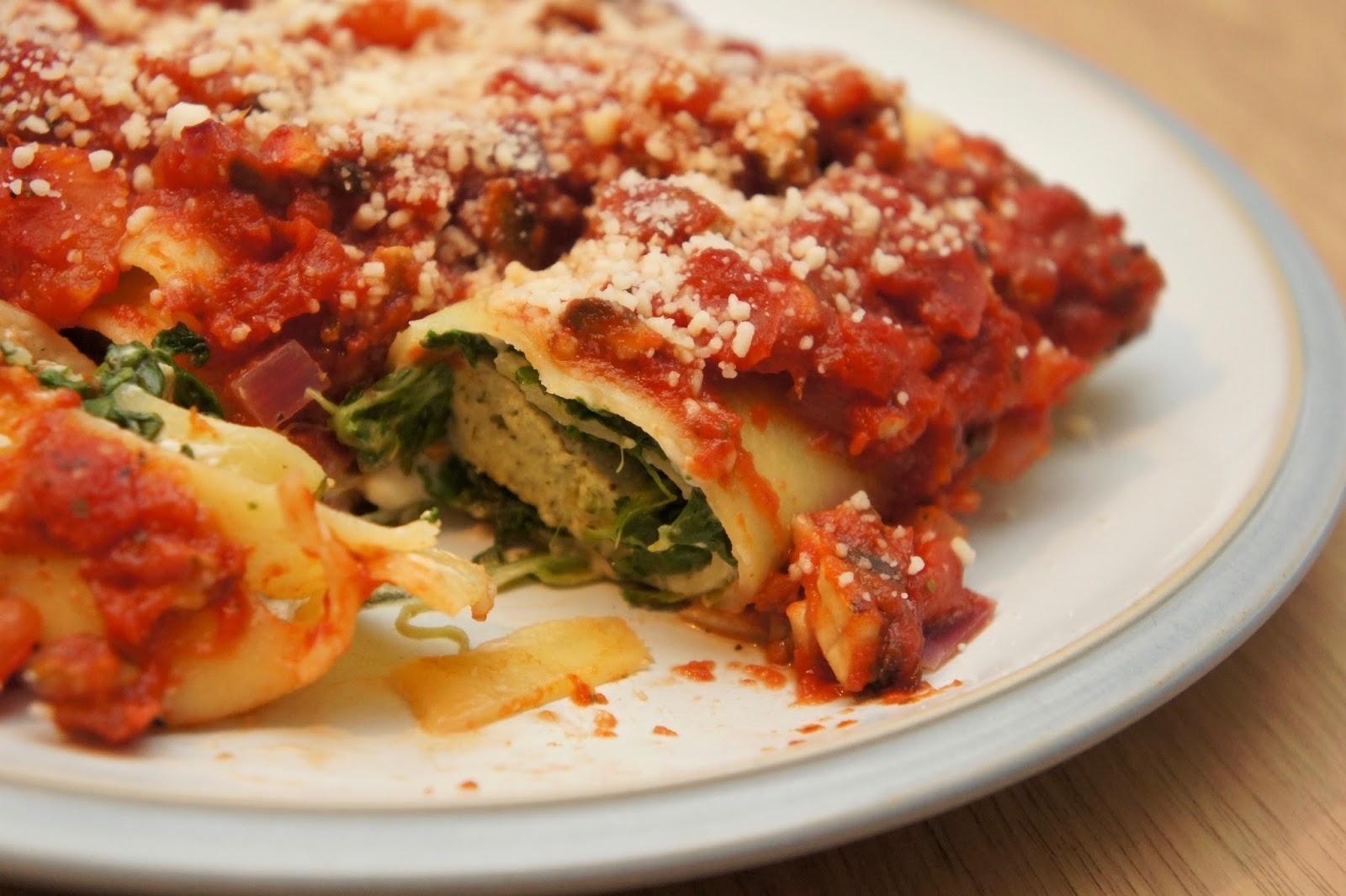lasagne roll ups vegan